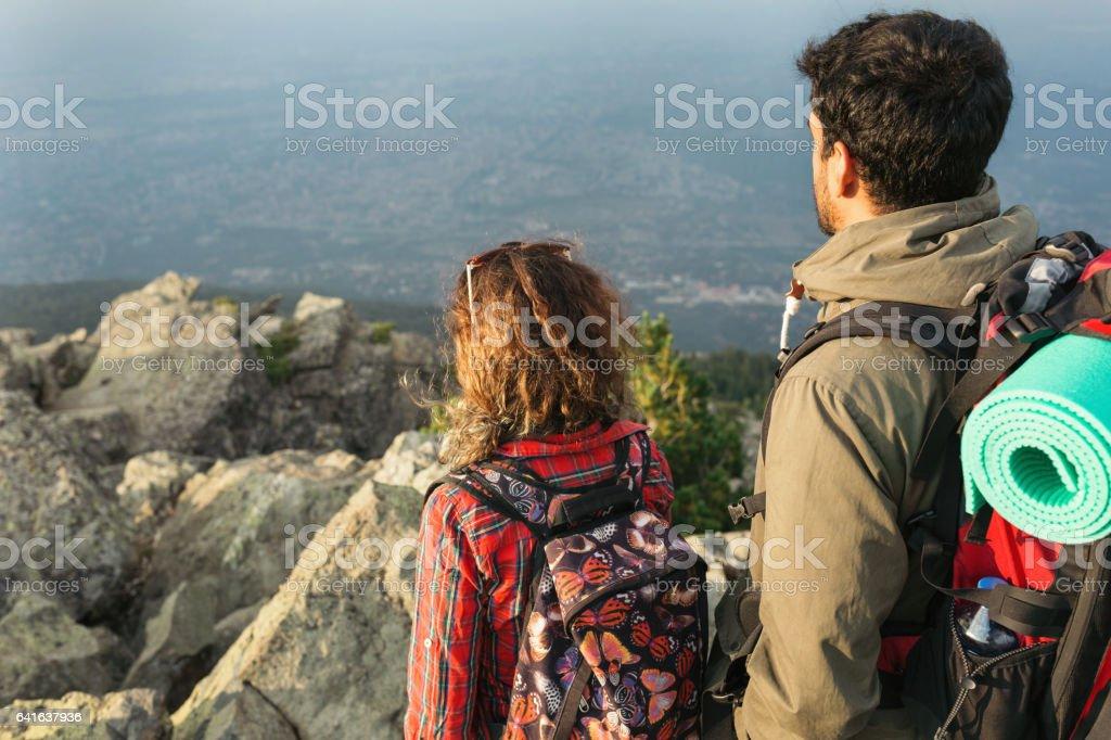 Tourists couple stock photo