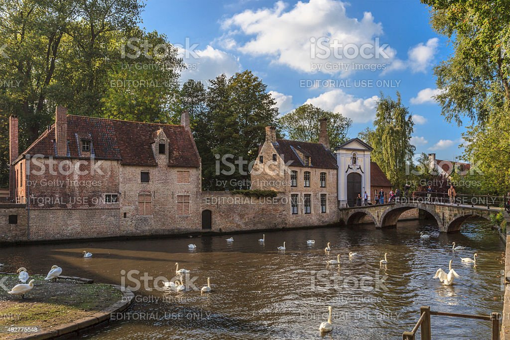 Bruges - Beguinage, Belgium stock photo