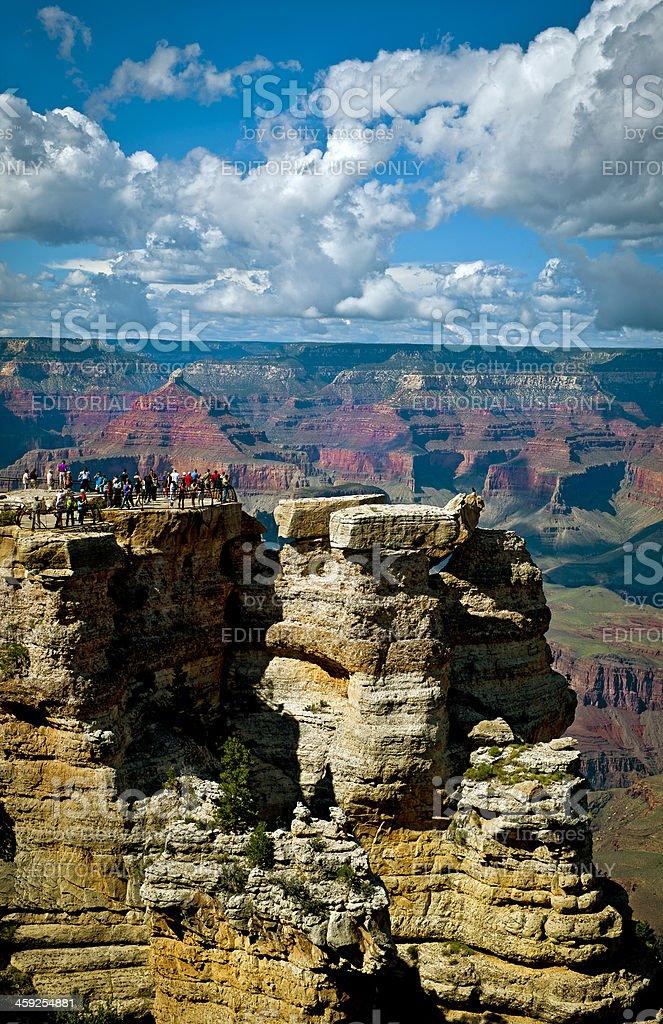 Tourists Enjoying Beauties of Grand Canyon USA royalty-free stock photo