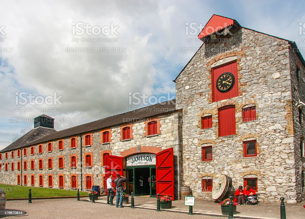 Tourists enter The Jameson Heritage Centre in Midleton Co. Cork stock photo