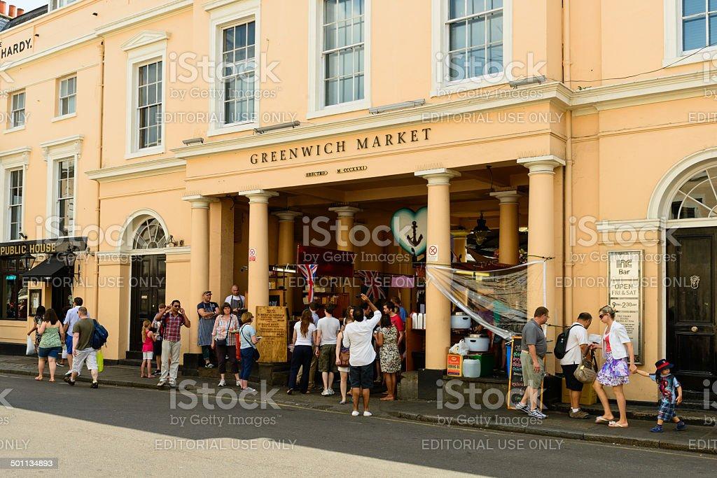 Tourists flock to Greenwich Market stock photo