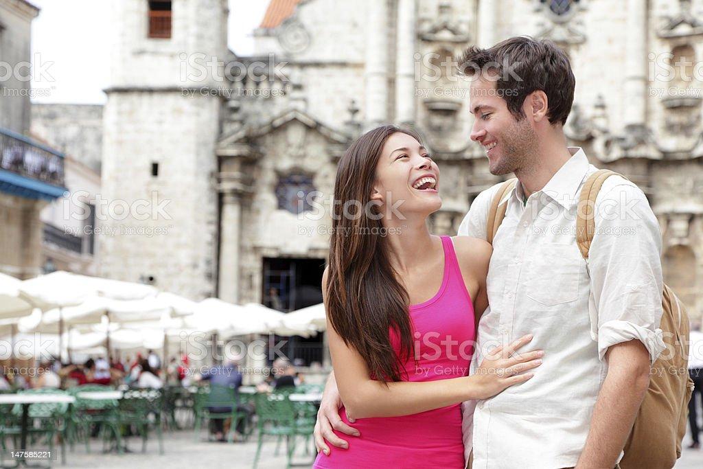 Tourists - happy couple royalty-free stock photo