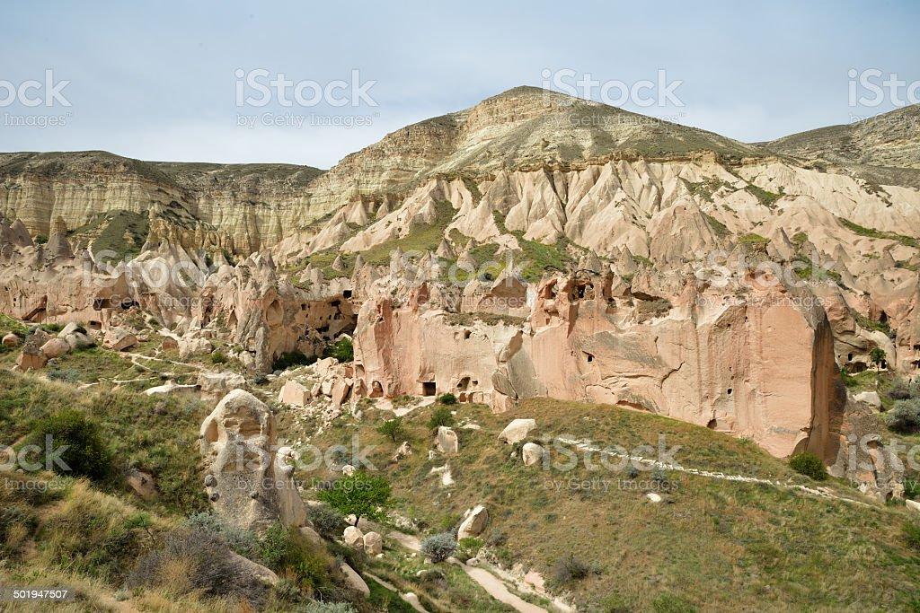 Tourists in Cappadocia stock photo