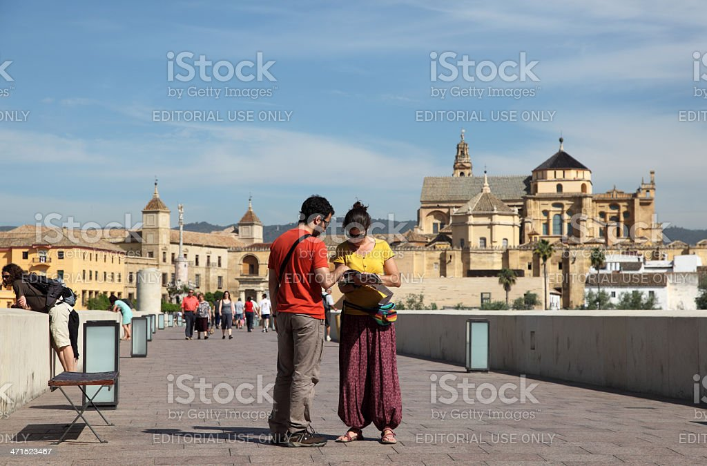 Tourists in Cordoba, Spain royalty-free stock photo