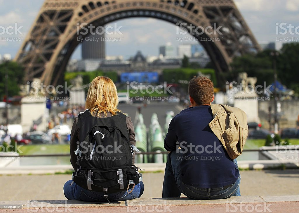 Tourists in France royalty-free stock photo