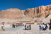 Tourists in  Hatshepsut