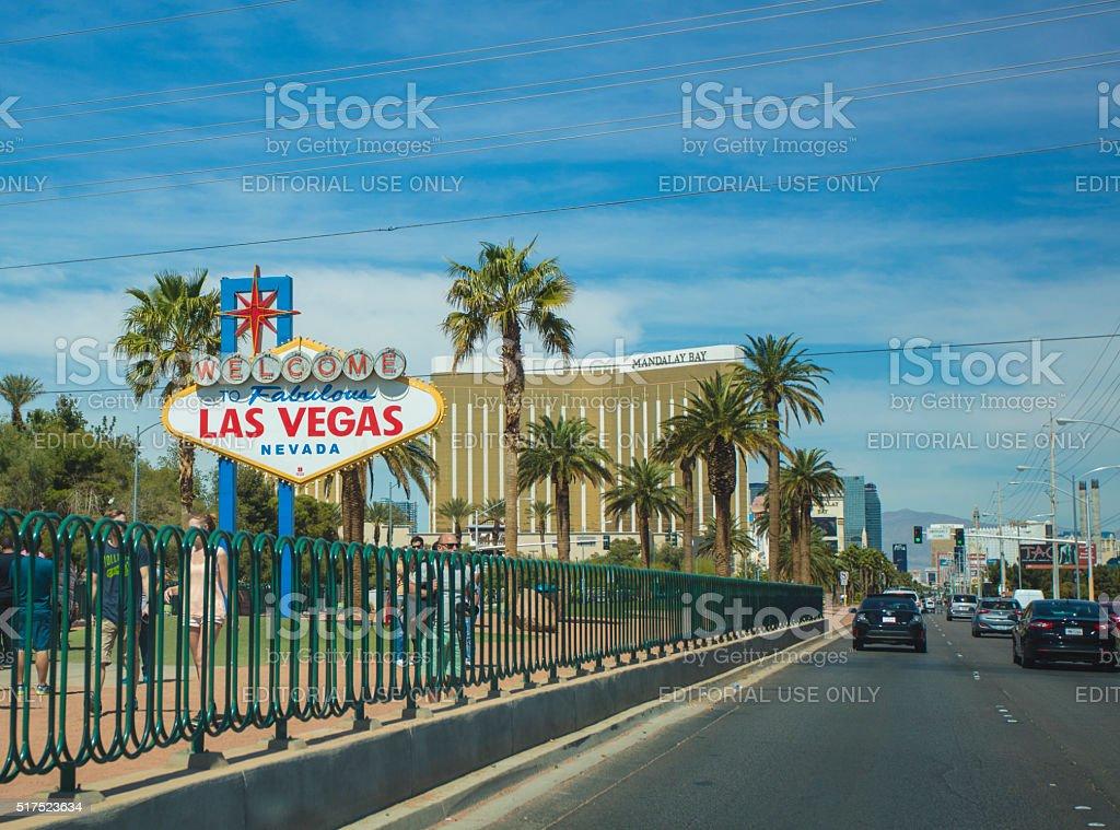 Tourists in Las Vegas stock photo