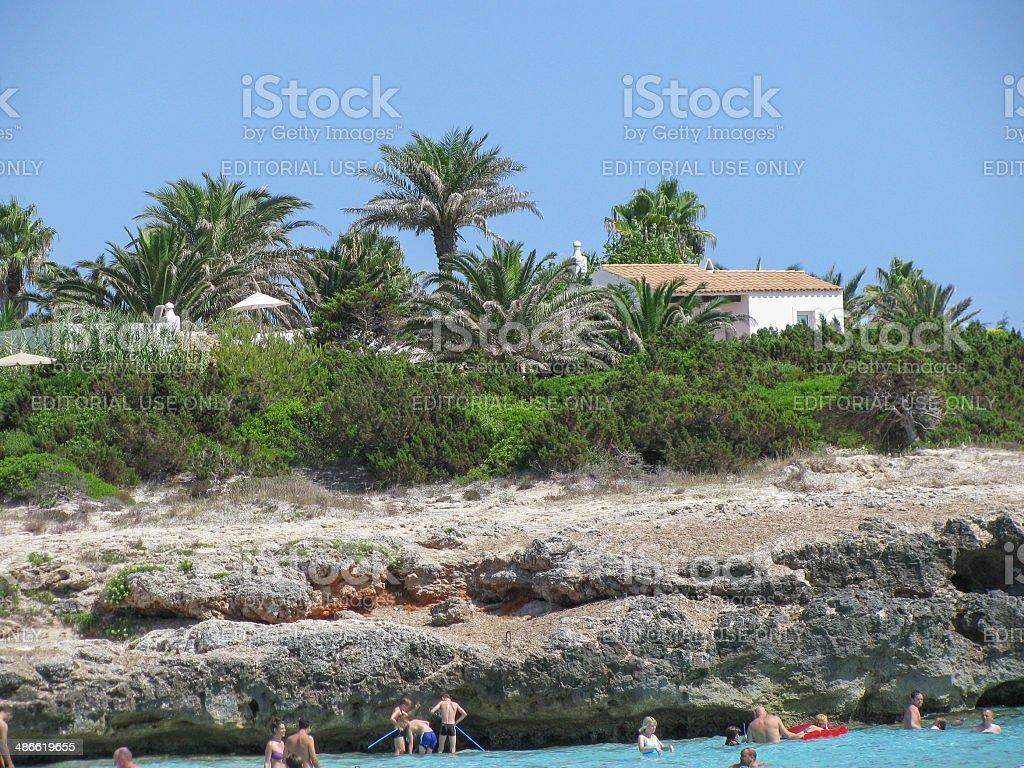 Tourists in Minorca stock photo