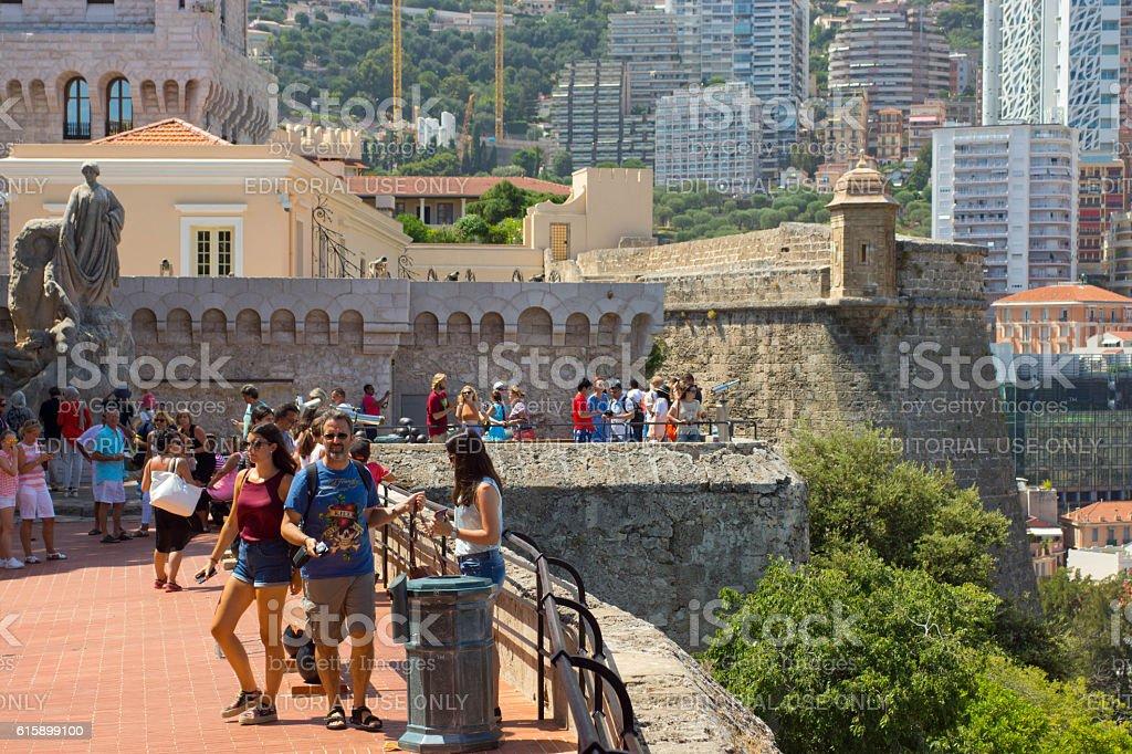 Tourists in Monaco stock photo