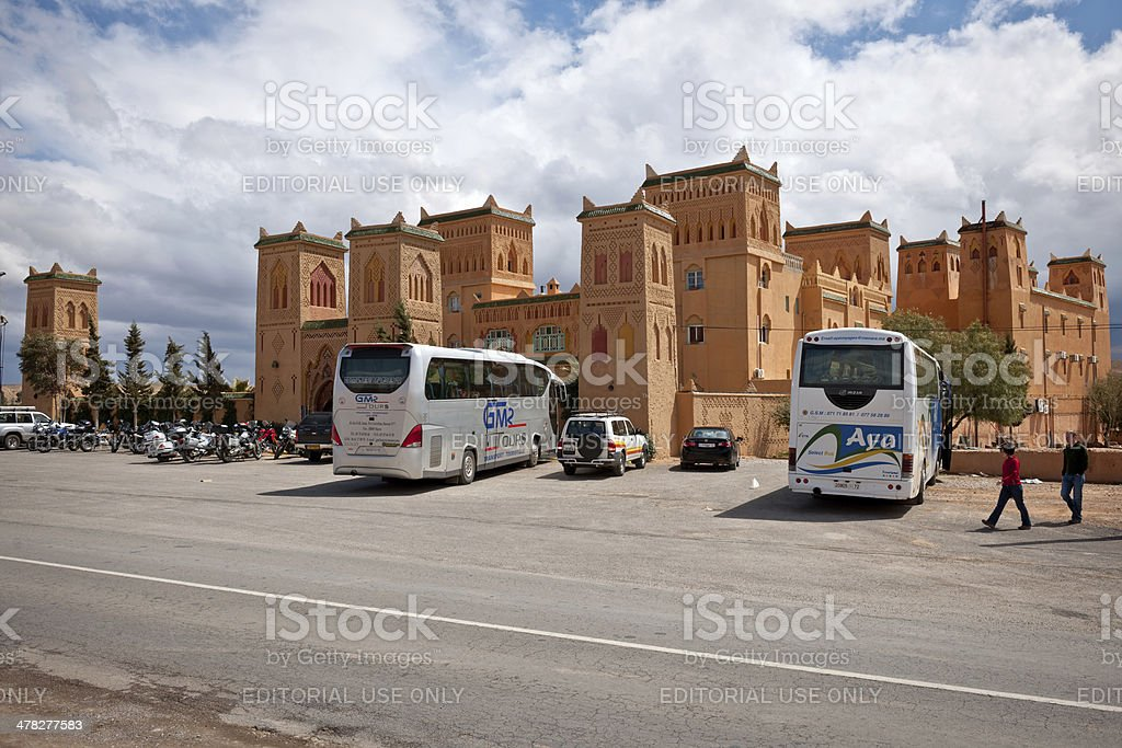 Tourists in Morocco, Africa royalty-free stock photo