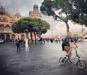 Tourists in Port Vell, Barcelona