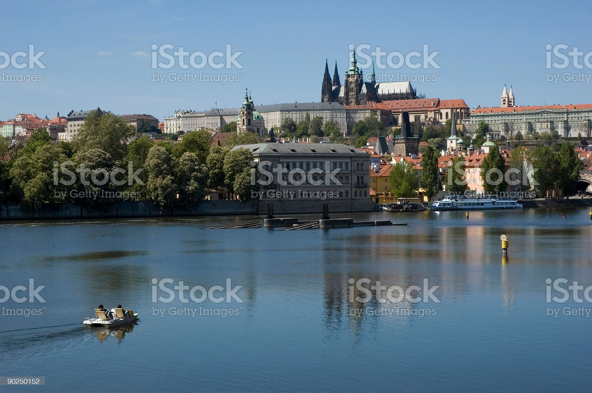 Tourists in Prague royalty-free stock photo