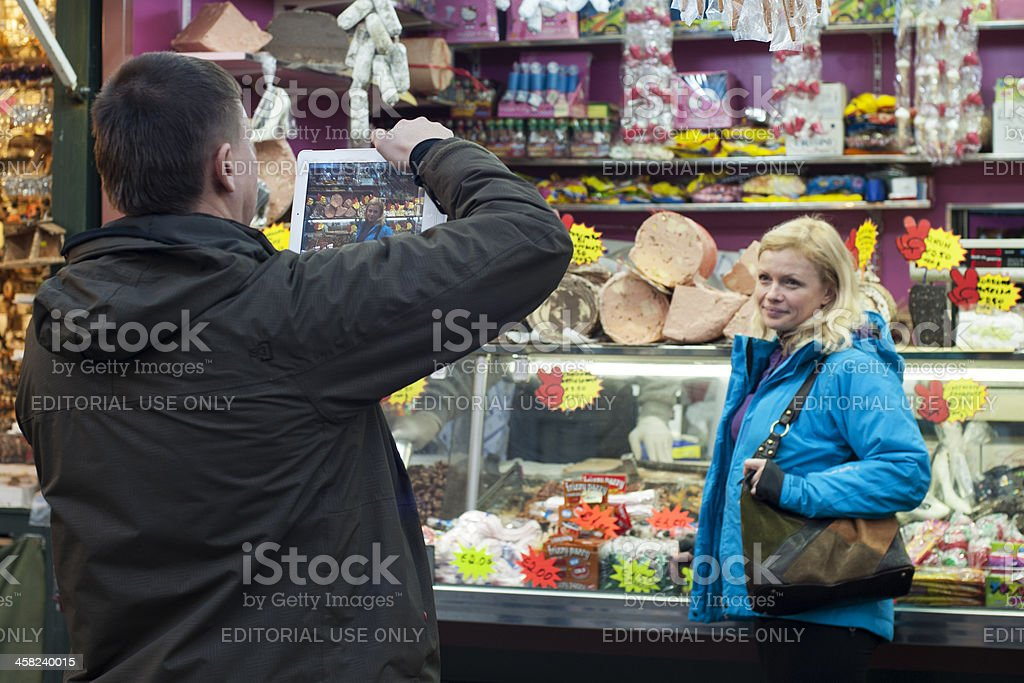 Tourists in Rome royalty-free stock photo