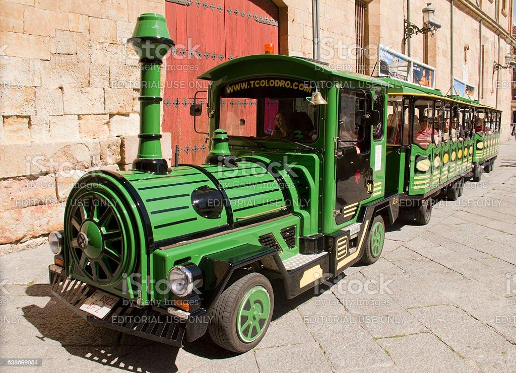 Tourists in Salamanca, Spain stock photo