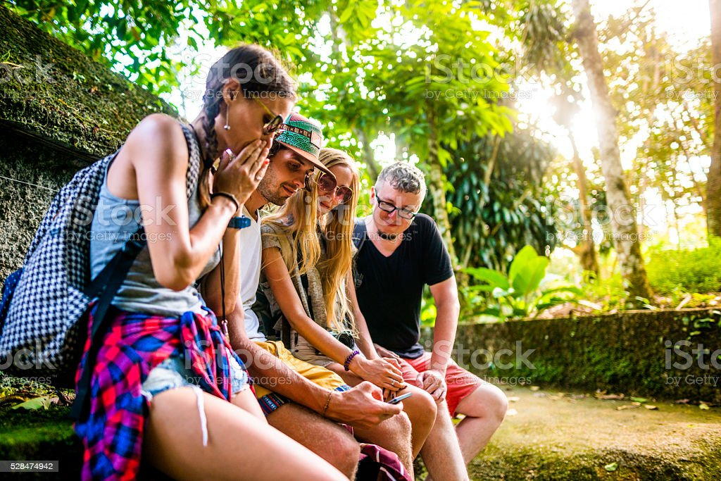 Tourists in Thailand stock photo