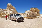 Tourists in the Atacama desert, Chile