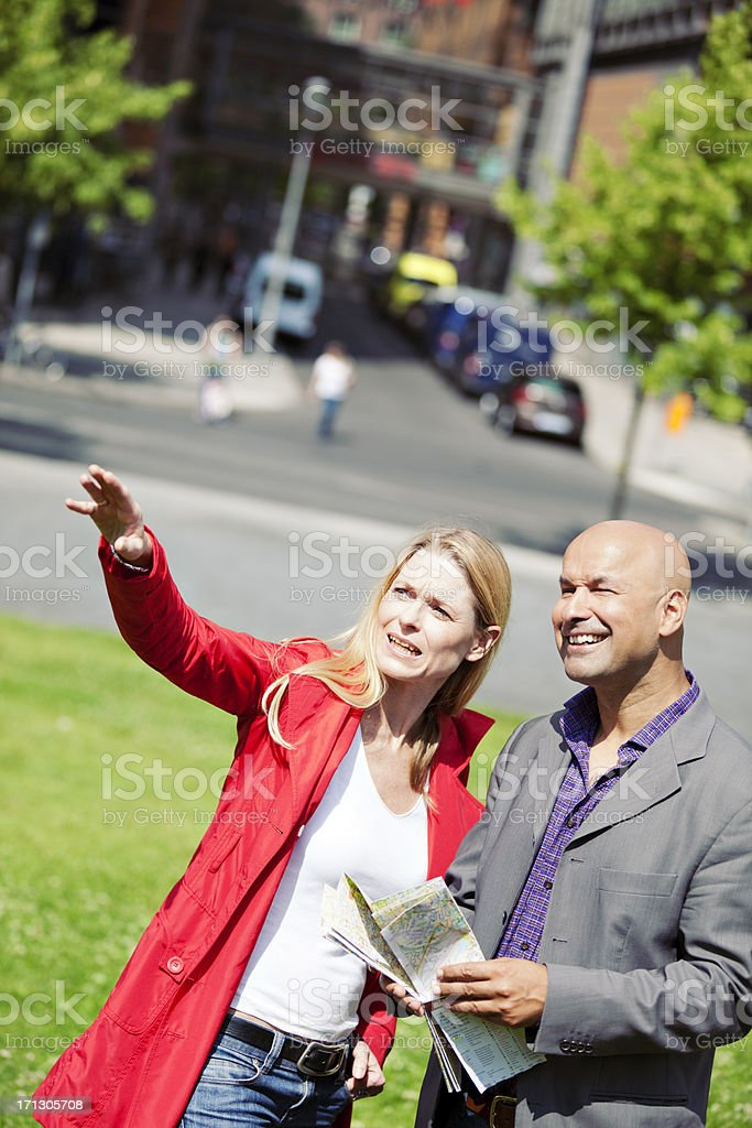 Tourists In Town stock photo
