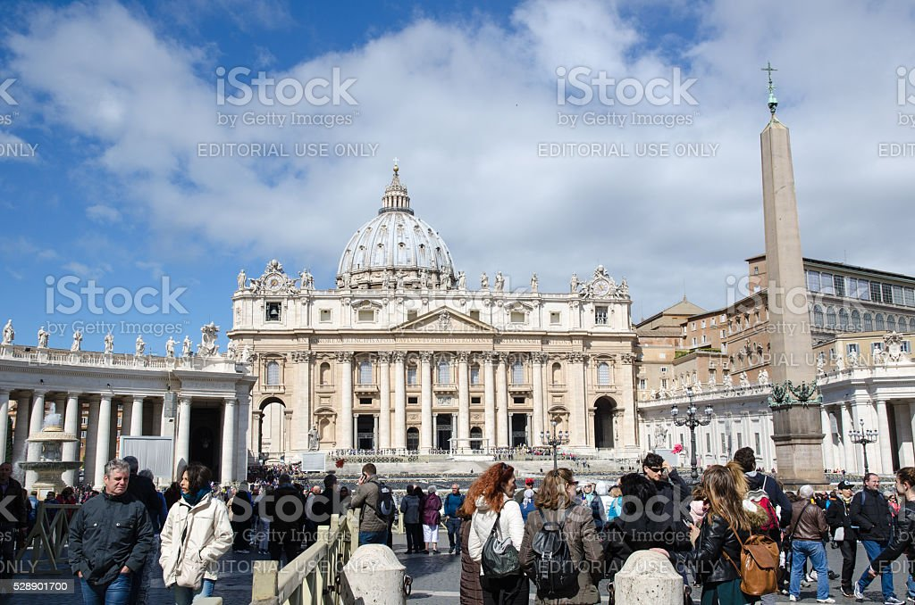 Tourists in Vatican City stock photo