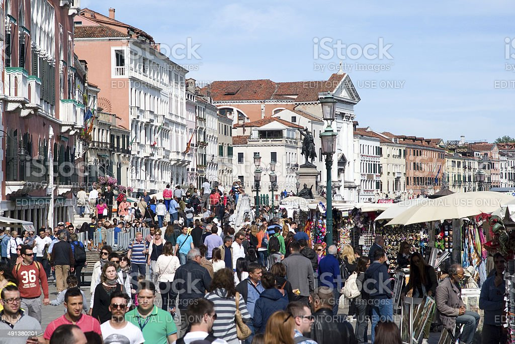 Tourists in Venice royalty-free stock photo