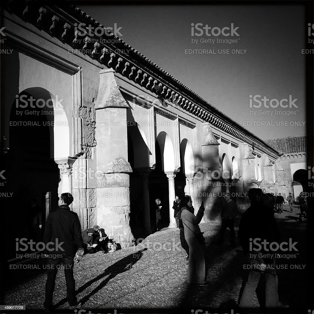 Tourists inside The Mezquita stock photo