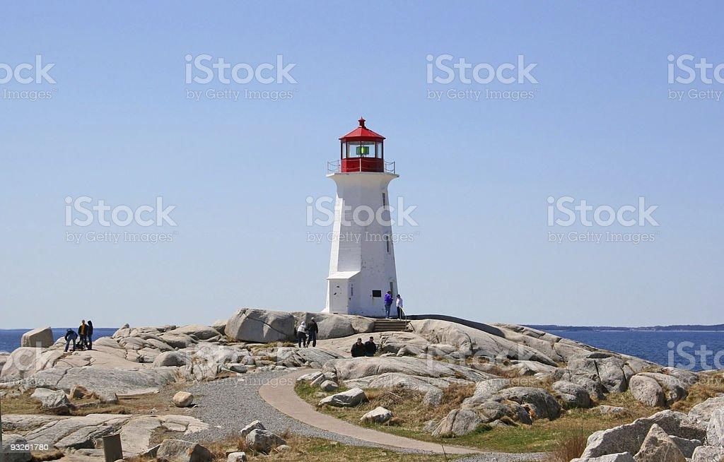 Tourists & Lighthouse royalty-free stock photo