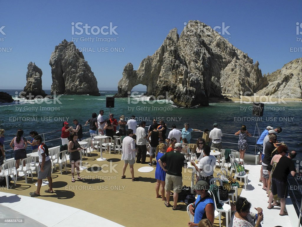 Tourists on a Boat royalty-free stock photo