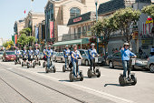Tourists on Segways in San Francisco