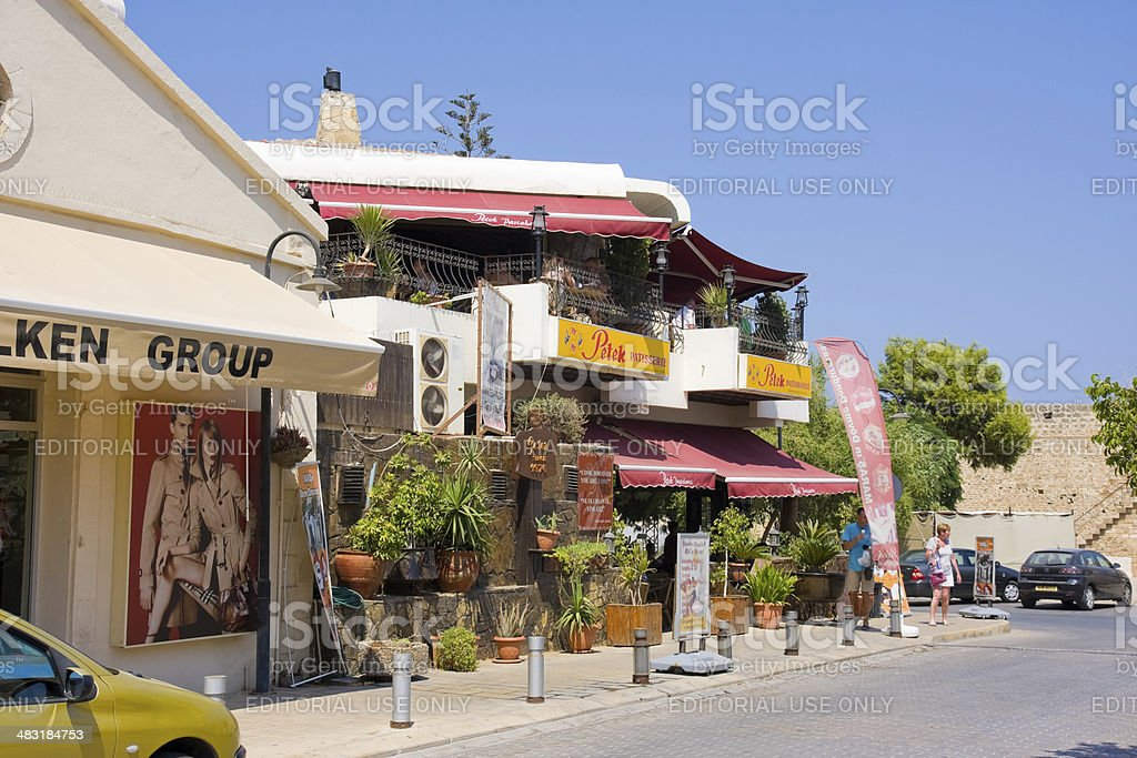 Tourists on street Yesil Deniz Sokak and Petek Confectioner royalty-free stock photo
