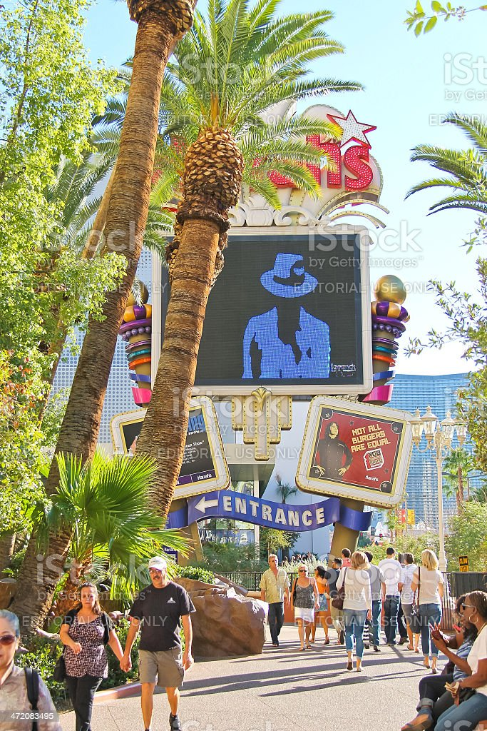 Tourists on the Strip  in Las Vegas, Nevada. stock photo