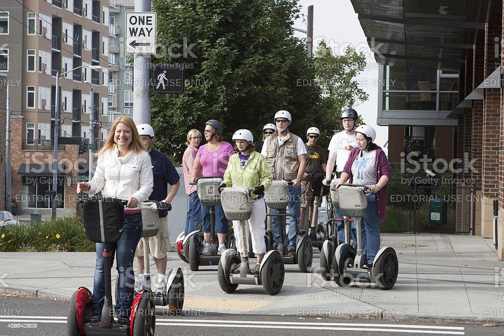 Tourists on Wheels stock photo