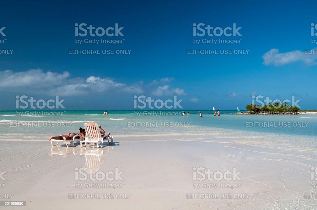 Tourists resting stock photo