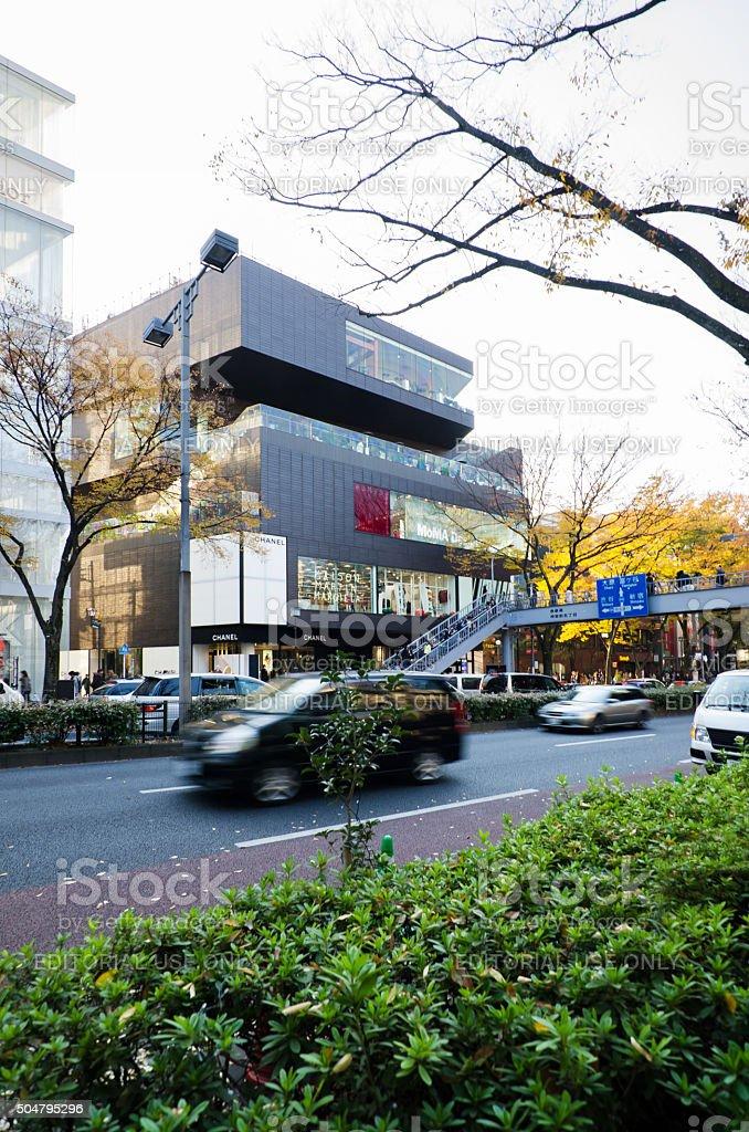 Tourists shopping on Omotesando street stock photo