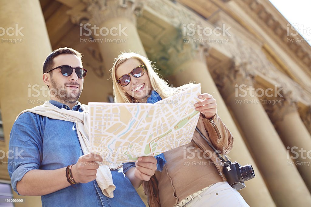 Tourists sightseeing stock photo