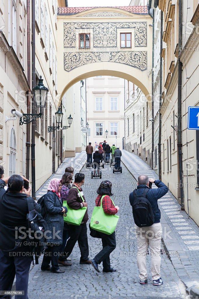 Tourists Using Segways royalty-free stock photo