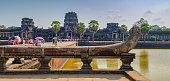 Tourists visit to Angkor Wat, Cambodia.