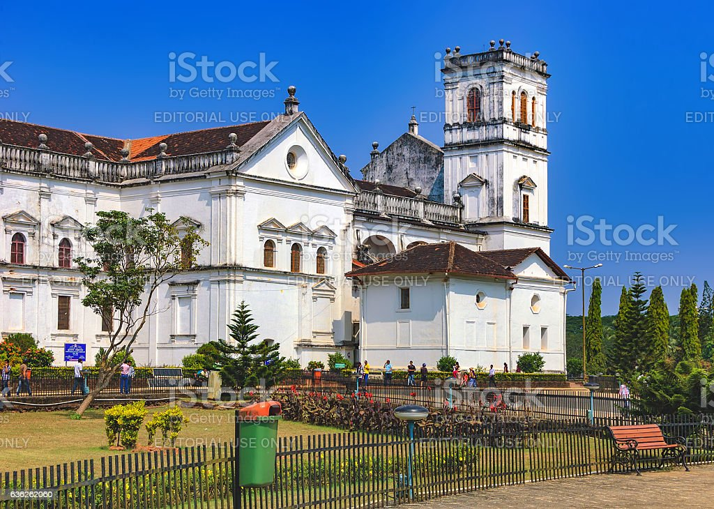 Tourists visit to Church of St. Francis Assisi stock photo