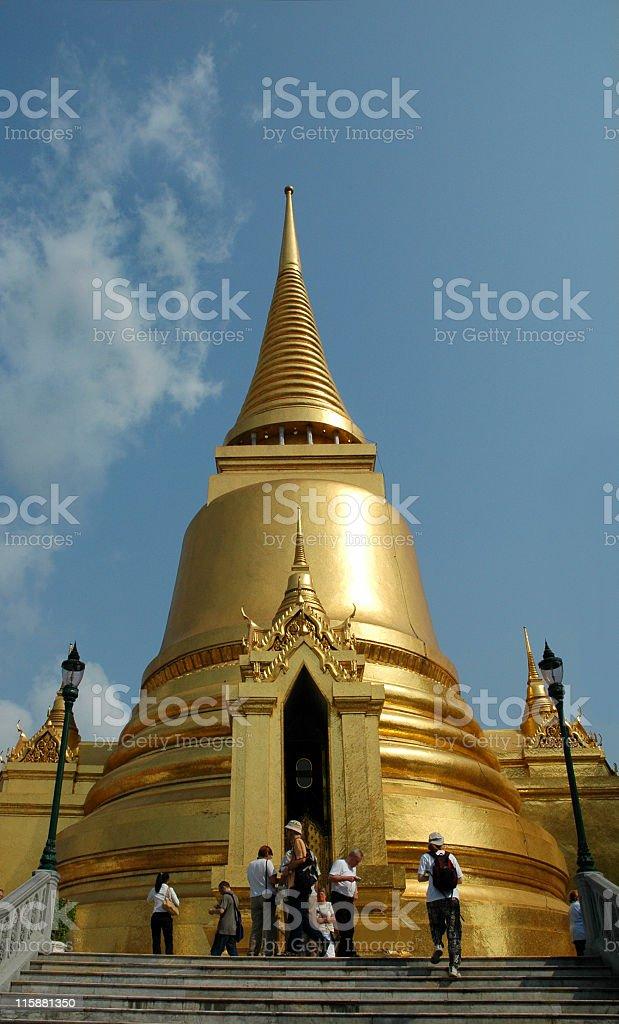 Tourists visiting the Grand Palace,Bangkok,Thailand stock photo