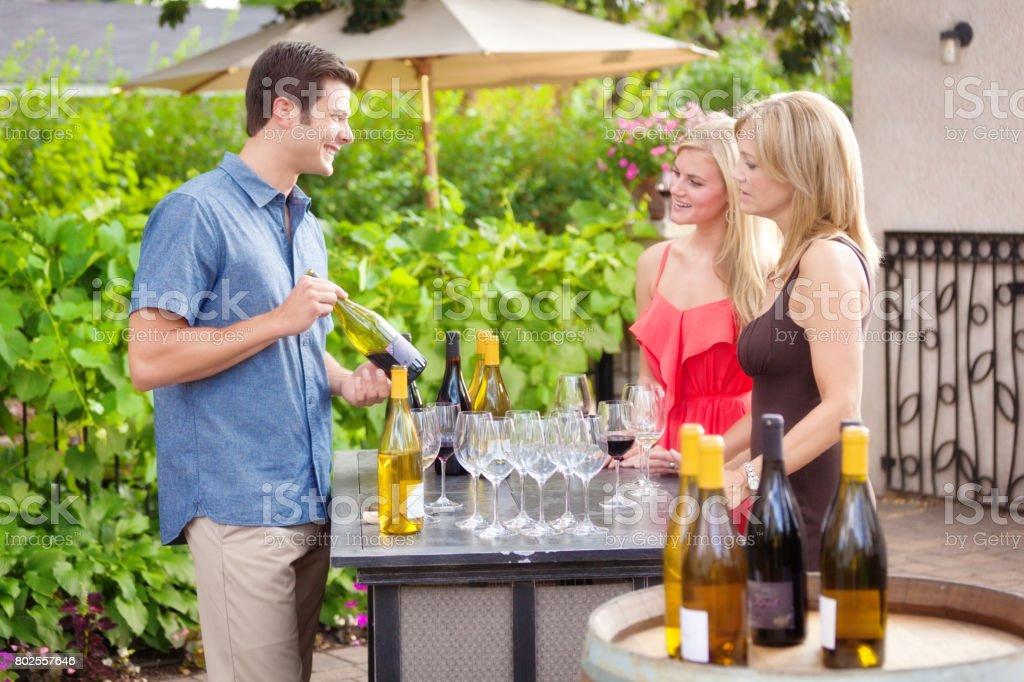 Tourists Visitors Wine Tasting in Napa Valley California, USA stock photo