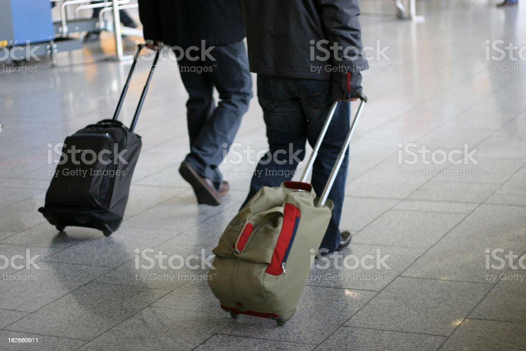 Tourists with cases royalty-free stock photo