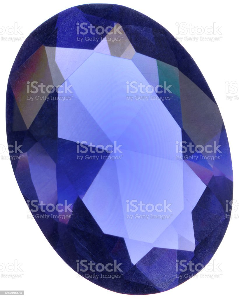 tourlamine, oval cut 2 royalty-free stock photo