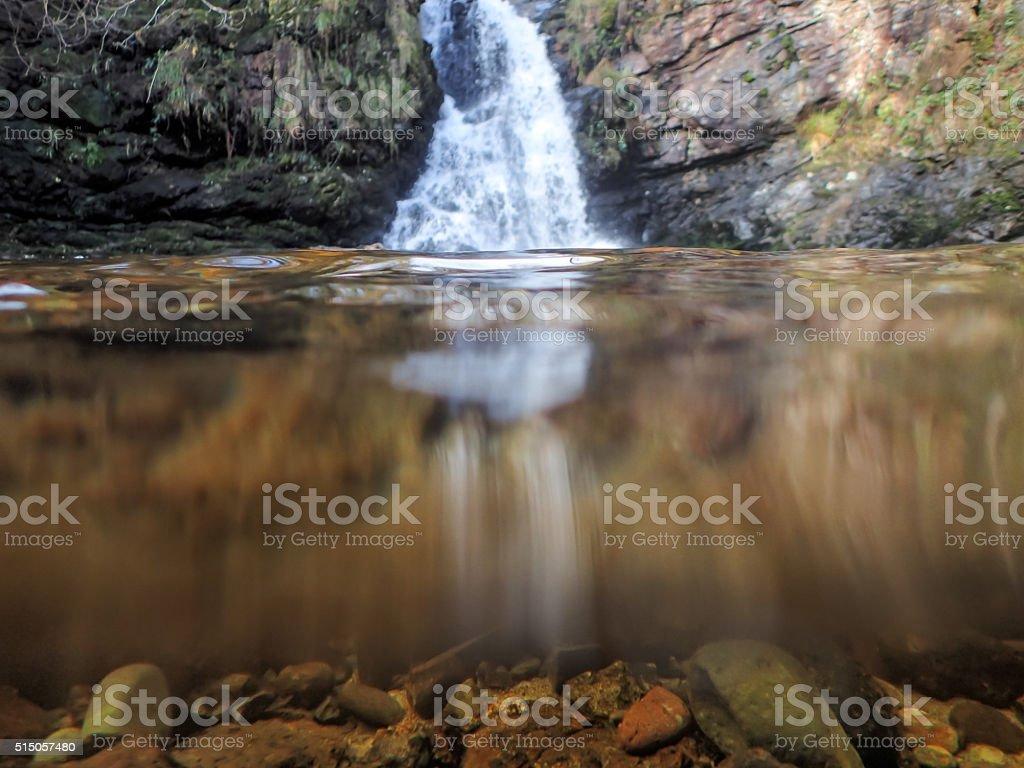 Tourmakeady waterfall stock photo