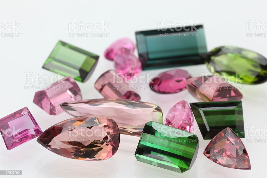 Tourmaline Gemstone in various color stock photo
