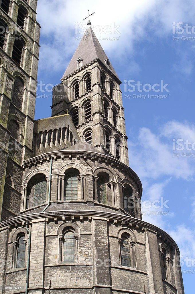 Tournai Cathedral stock photo
