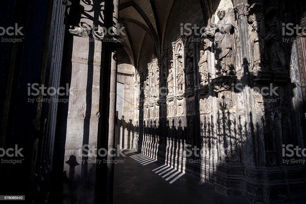 Tournai cathedral stock photo