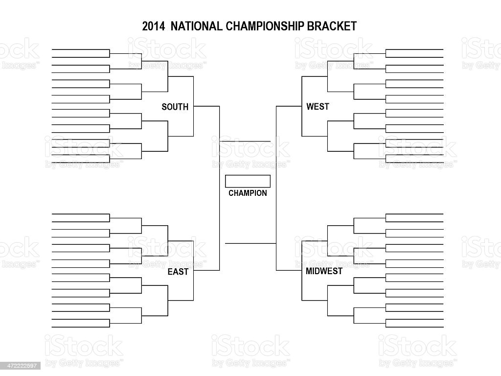Tournament Bracket 2014 stock photo