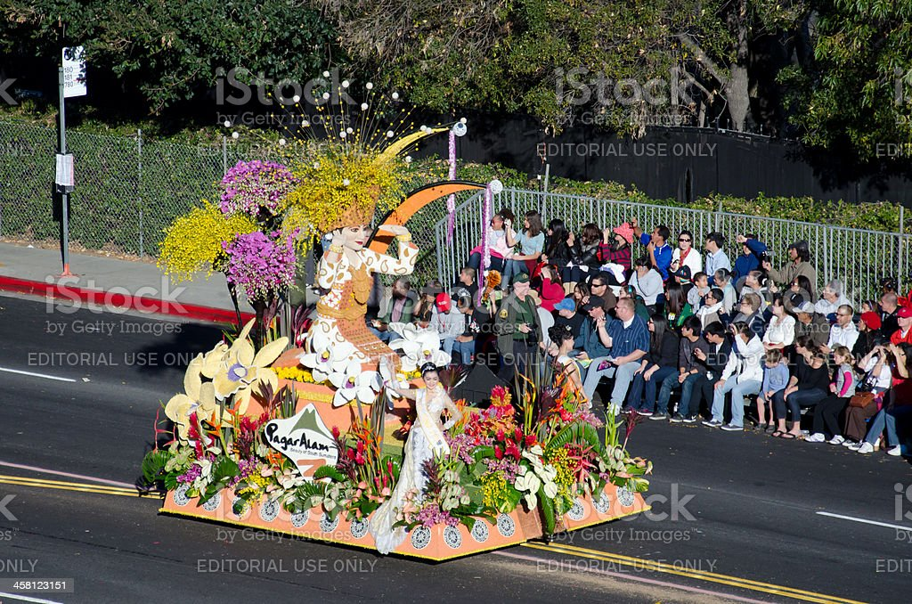 Tournament of Roses Parade 2012-Indonesia stock photo