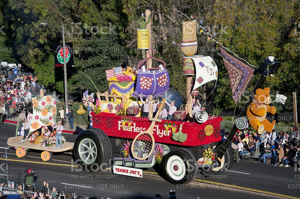 Tournament of Roses Parade 2012-Trader Joes stock photo