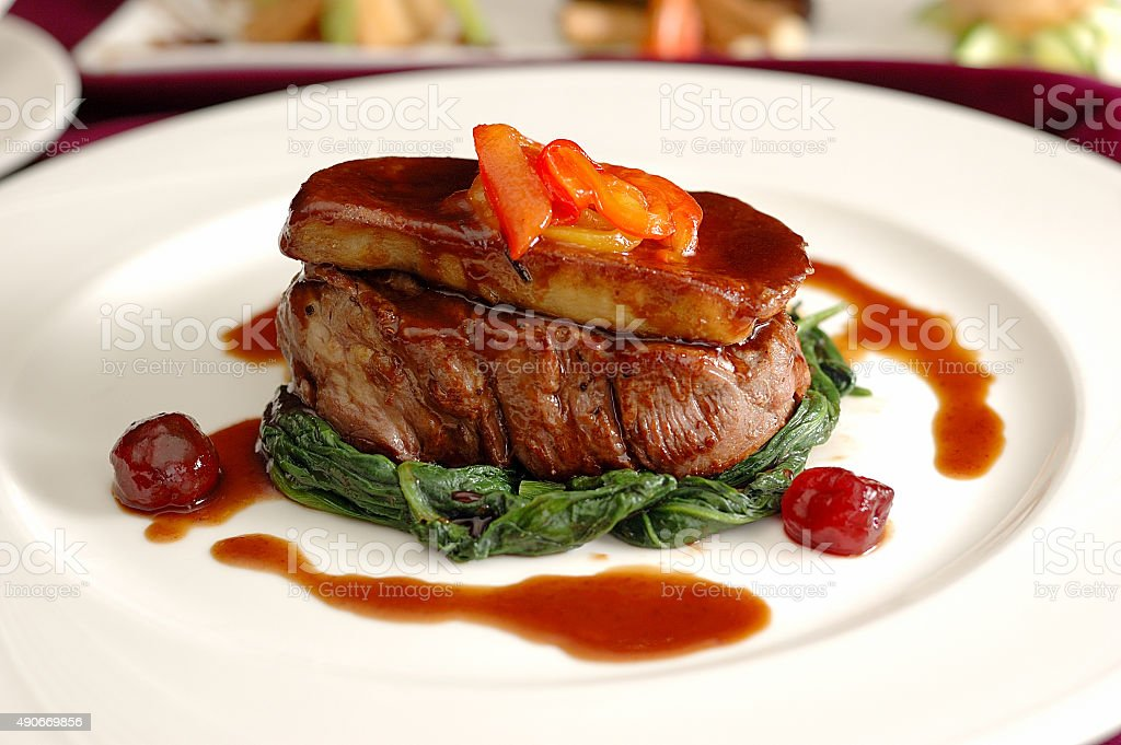 Tournedos Rossini. stock photo