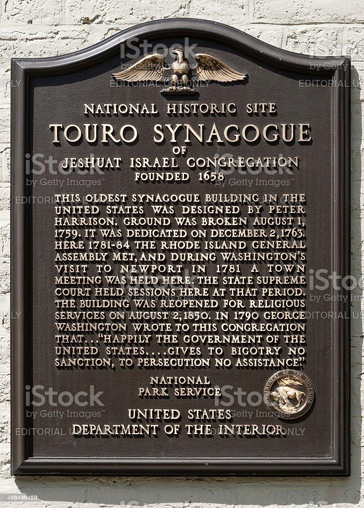 Touro Synagogue stock photo
