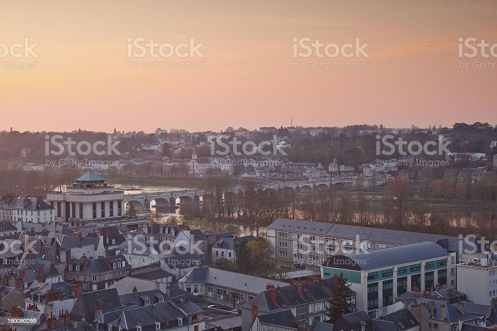 Tours rooftops stock photo